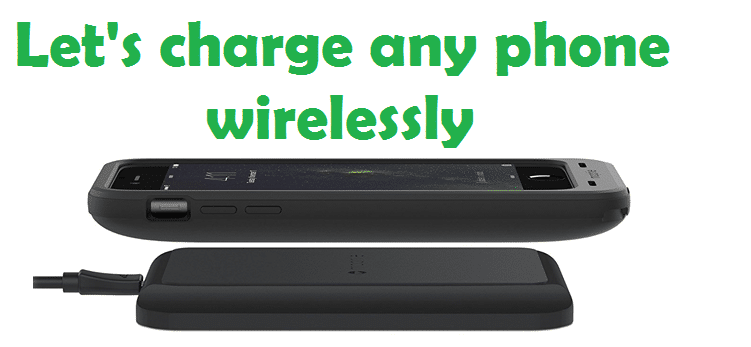 How to set wireless charging for devices that don't support wireless charging?