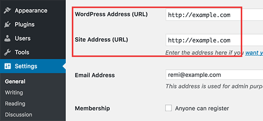 Fix WordPress Site URL
